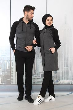(no title) Within the last 30 years, the evolution of fashion has Adidas Tracksuit Women, Sports Hijab, Jogging, Kids Vest, Cute Muslim Couples, Hijab Style, Evolution Of Fashion, Kurti Designs Party Wear, Couple Outfits