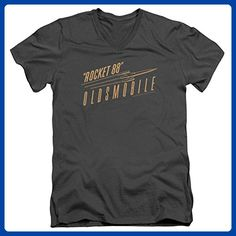 Oldsmobile- Retro Rocket 88 Logo V- Neck T-Shirt Size L - Retro shirts (*Amazon Partner-Link)