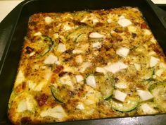 Kris' Kitchen: The Culinary Journey of Koko B.: Zucchini, corn, feta cheese and bacon pie