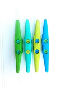 4 Tropical 6 Boat cleat Coat rack hooks nautical by CoconutBeech, $24.80