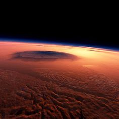 Martian volcano Olympus Mons looks amazing!!  #MartianVolcano #OlympusMons #Space