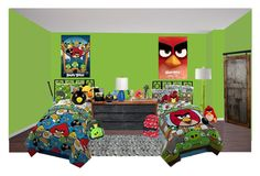 """""""angry birds"""" by sterlingkitten on Polyvore featuring interior, interiors, interior design, home, home decor, interior decorating, Angry Birds, Stray Dog Designs, EASTON and artless"""