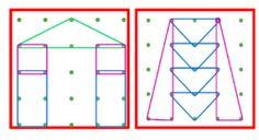Géoplan 24 fiches niveaux 4 (4 figures et plus et plusieurs côtés communs)