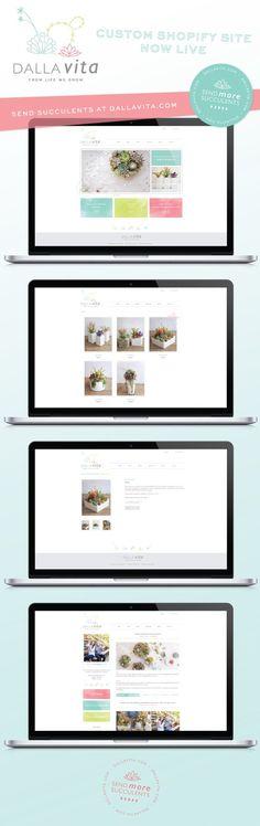 Dalla Vita Custom Shopify Site Now Live | shopify, website design, web, brand…