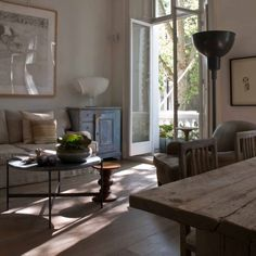Discover how the owners used clever design ideas to turn their small Edwardian apartment into a light-filled space where they can live and work Cosy Apartment, London Apartment, Apartment Design, Apartment Living, Apartment Ideas, Flat Interior, Interior Decorating, Interior Design, Decorating Ideas