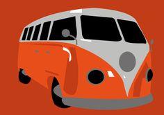 VW Splitscreen Orange by PurplePetrolPump