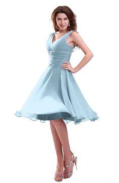 17c58089538 Ice Blue Informal Zipper Chiffon Knee Length Sequin Bridesmaid Dresses  Olive Green Bridesmaid Dresses