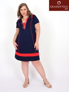 Vestidos Plus Size, Short Sleeve Dresses, Dresses With Sleeves, Ideias Fashion, Dresses For Work, Denim, Womens Fashion, Polo Neck, Jean Dress Outfits
