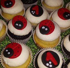 Ladybug cupcakes by morethancakes