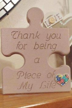 Puzzle piece sign Precisely what are Wedding Decoration Supplies? Puzzle Piece Crafts, Puzzle Art, Puzzle Pieces, Wood Crafts, Diy And Crafts, Crafts For Kids, Wood Projects For Kids, Craft Projects, Romantic Ideas