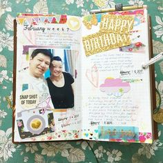 Celebrated the hubby's birthday last week with a home cooked dinner  . . #midoritravelersnotebook #mtn #midori #websterspages #websterspagestravelersnotebook #travelersnotebook #travelersnote #scrapbook #scrapbooking #diary #journal #artjournal #traveljournal #papercraft #crafty #stationeryaddict #planneraddict #planneraddictmalaysia #plannercommunity #planners #travelersnotebookmalaysia #diecut #stamping #washitape #loveforanalogue #thedailywriting #paperaddict #mixedmedia