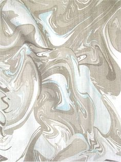 Marble Swirl Aqua   Kate Spade NY Fabric U2013 Transitional Swirl Print On 100%  Linen