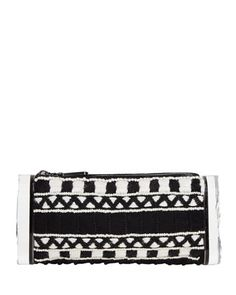 Soft Lara Embroidered Clutch Bag, Black Multi by Edie Parker at Neiman Marcus.