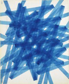 (via David Moreno - One Forward Two Back Blue for Sale   Artspace)