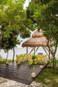 Have your ceremony at the Wedding Gazebo with up to 50 guests. #sunscapesabor