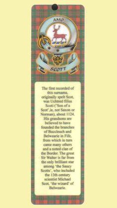 For Everything Genealogy - Scott Clan Badge Clan Scott Tartan Laminated Bookmarks Set of 2, $14.00 (http://www.foreverythinggenealogy.com.au/scott-clan-badge-clan-scott-tartan-laminated-bookmarks-set-of-2/)