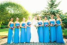 Bridesmaids in blue, Connecticut Wedding Photography at Aqua Turf