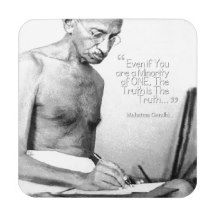 #Mahatma #Gandhi #Quote, Minority of One, Truth #Coasters