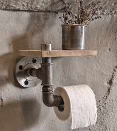 Rustic Industrial Toilet Paper Holder, Rustic Furniture, Industrial Furniture by DuffyIndustrialHome on Etsy https://www.etsy.com/listing/272834558/rustic-industrial-toilet-paper-holder