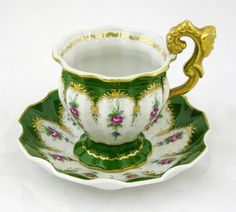 French Porcelain Cup and Saucer, early 20th c