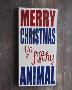 Christmas Sign Christmas Decoration Custom Wood Sign by wavynavy, $48.00
