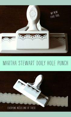 Martha Stewart doily punch