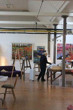 Julie Dumbarton's studio - utterly vibrant just like her work