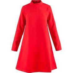 Trapezowa sukienka z flauszu PE107