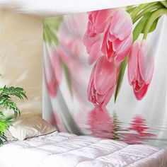 SHARE & Get it FREE | Water Tulip Printed Tapestry Wall HangingsFor Fashion Lovers only:80,000+ Items·FREE SHIPPING Join Dresslily: Get YOUR $50 NOW!