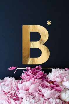 Typography Poster Golden Letters ABC Flower Alphabet Typographie Fineart Prints The post Typography Poster Golden Letters ABC appeared first on Fotografie. Art Deco Typography, Cute Typography, Japanese Typography, Creative Typography, Typography Poster, Typography Letters, Tattoo Typography, Number Typography, Birthday Typography