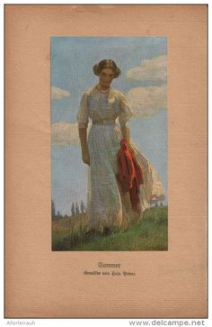 Sommer - Druck, entnommen aus Velhagen und Klasings- Monatsheften, 1916