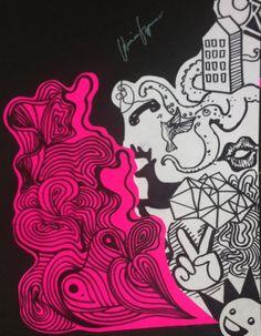 Original Art by Gloria Espinoza. Sharpie.