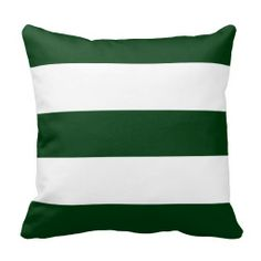 hunter green stripe pillow - football room