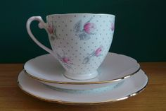 A Trio of Royal Grafton Bone China. Cup, Saucer & Side Plate