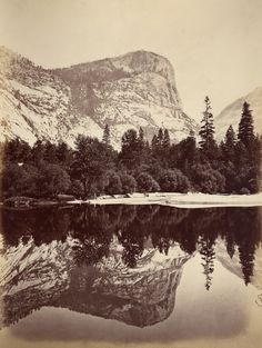 Mirror Lake- Yosemite Valley by Carleton E. Watkins