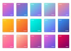 Gradients Color Style on Behance Website Color Palette, Spring Color Palette, Pastel Colour Palette, Colour Pallete, Gradient Color, Poster Background Design, Palette Art, Color Psychology, Color Harmony