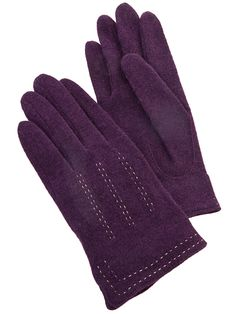 Trinity Woll Handschuhe lila