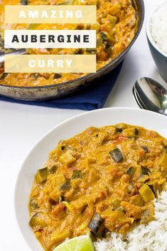 This amazing aubergine curry (or eggplant curry) is quick, vegan and soooo tasty. Brought to you by the kings of curry. Vegetarian Recipes Dinner, Delicious Vegan Recipes, Vegan Dinners, Raw Food Recipes, Veggie Recipes, Indian Food Recipes, Cooking Recipes, Healthy Recipes, Kitchen Recipes