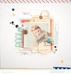 #papercrafting #scrapbooking #layout -  Pool by marcypenner at Studio Calico