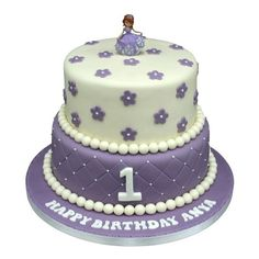 Order designer Barbie doll cake online for a birthday. Barbie Doll Birthday Cake, Barbie Cake, First Birthday Cakes, Birthday Cake Girls, It's Your Birthday, Barbie Dolls, Princess Sophia, Princess Cakes, One Tier Cake