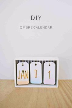 Best DIY Gifts for Girls - DIY Ombre Calendar - Cute Crafts and DIY Projects that Make Cool DYI Gift Ideas for Young and Older Girls, Teens and Teenagers - Awesome Room and Home Decor for Bedroom, Fashion, Jewelry and Hair Accessories - Cheap Craft Projects To Make For a Girl for Christmas Presents diyjoy.com/...