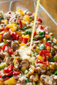 Easy breakfast casserole you can freeze or make the night before! Use your favor… Easy breakfast casserole you can freeze or make the night before! Use your favorite vegetables, meats, and cheese. Recipe on sallysbakingaddic… Veggie Breakfast Casserole, Breakfast Desayunos, Breakfast Dishes, Breakfast Recipes, Make Ahead Breakfast Casseroles, Easy Breakfast Ideas, Frozen Breakfast, Hashbrown Breakfast Casserole, Easy Brunch Recipes