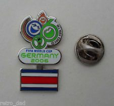 Sport Football FIFA WORLD CUP Germany 2006 COSTA RICA Flag METAL PIN BADGE Pins
