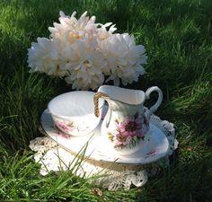 Vintage Pink Blosom Flower Fine Bone China Tea by BellesTeaShop, $31.99
