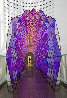 One-way colour tunnel, by Olafur Eliasson  San Francisco Museum of Modern Art, 2007