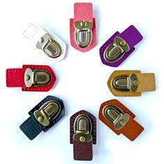 Faux Leather Tongue / Press Lock Clasp - 8 colours from U-Handbag