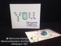 Stampin' Up! You're priceless card gift lucky stone