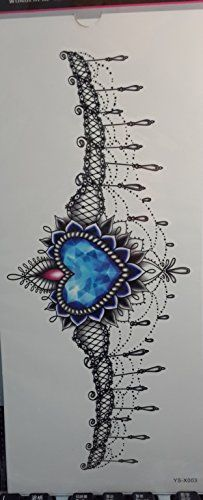 GGSELL Temporary tattoos for women's chest Jewelry design >>> Click image to review more details. We are a participant in the Amazon Services LLC Associates Program, an affiliate advertising program designed to provide a means for us to earn fees by linking to Amazon.com and affiliated sites.