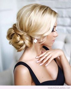 #STUNNING! If you're looking for the perfect bridal updo you must try this! It is simply gorgeous.