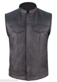concealed carry leather motorcycle vest $65.95 #concealedcarryvest #motorcyclevest #clubvest http://leatherdropship.com